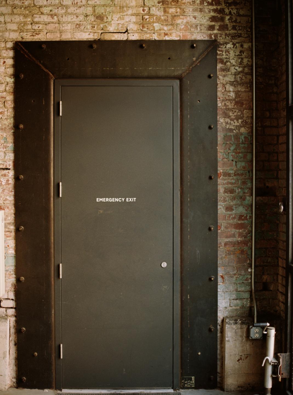 Hauser & Wirth Exit Sign On Door