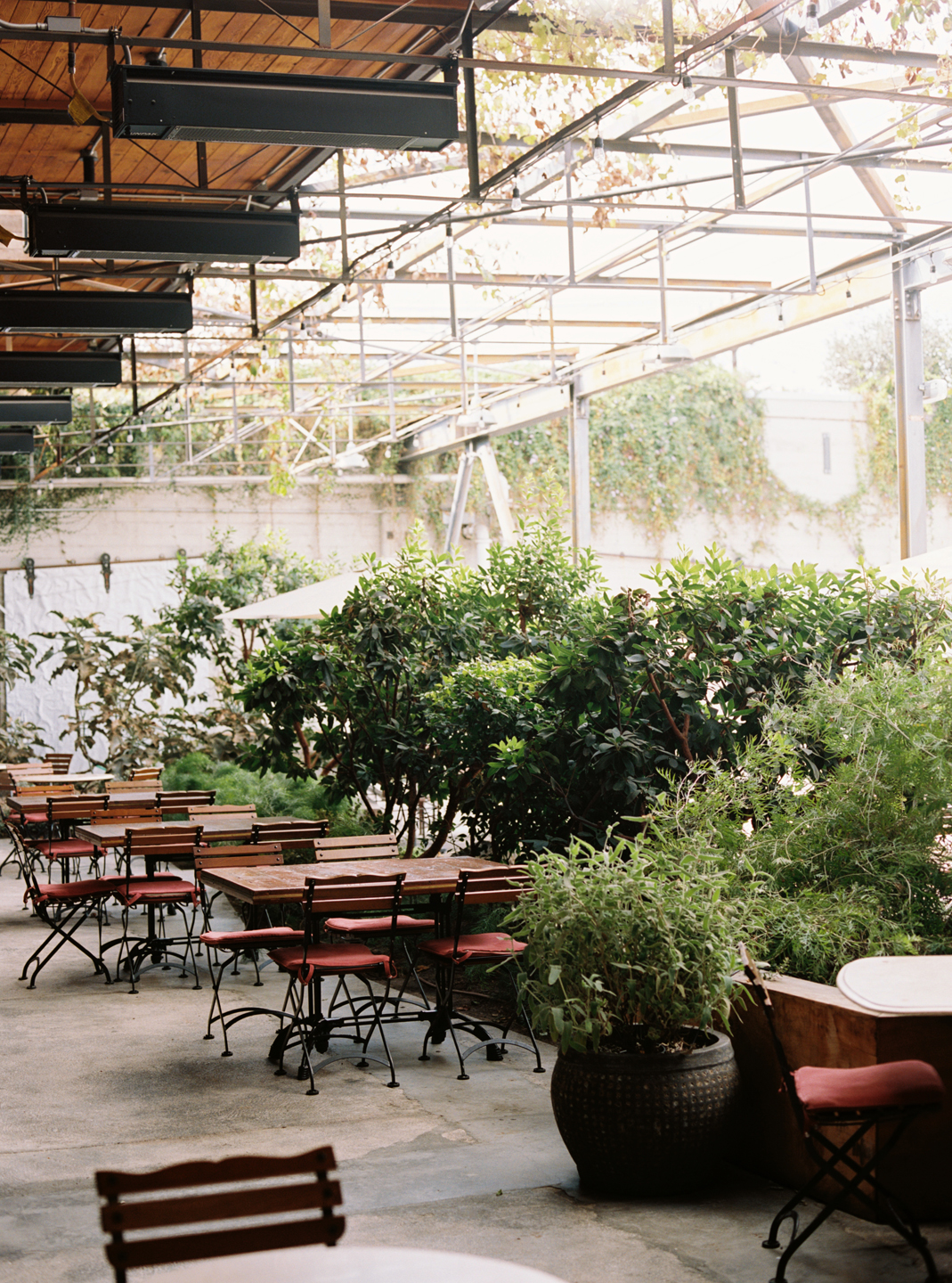 Hauser & Wirth Building Patio Seating Dining Rustic
